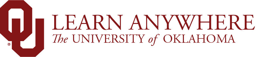 Learn Anywhere, The University of Oklahoma website wordmark