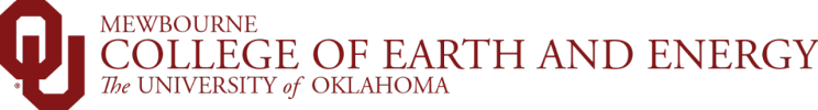 Mewbourne College of Earth and Energy, The University of Oklahoma website wordmark
