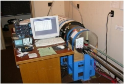The 2G cryogenic magnetometer (with DC squids) and AF demagnetizer in the shield Paleomagnetic Laboratory.