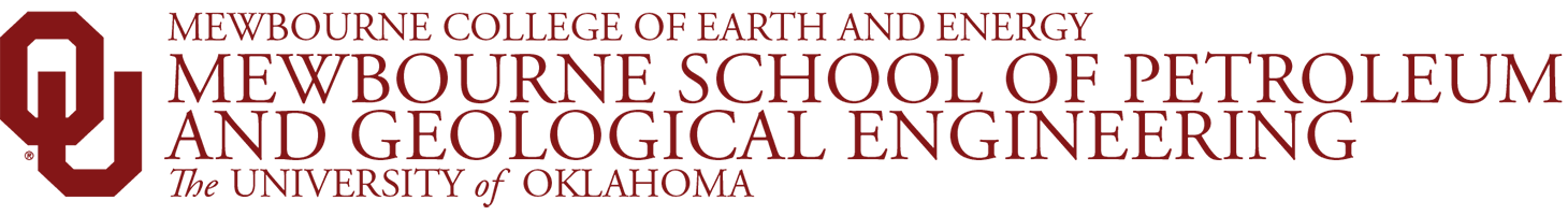 Mewbourne College of Earth and Energy, Mewbourne School of Petroleum and Geological Engineering, The University of Oklahoma website wordmark