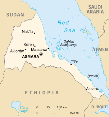 Eritrea islam and middle east map from cia world factbook 2001 gumiabroncs Image collections