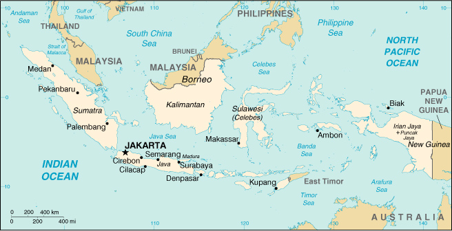 Indonesia islam and middle east map from cia world factbook 2001 gumiabroncs Gallery