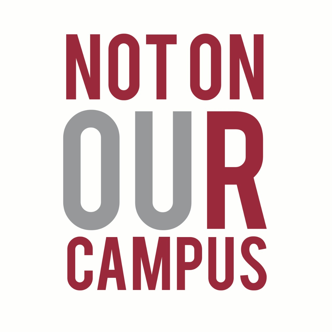 Not On Our Campus Campaign Logo