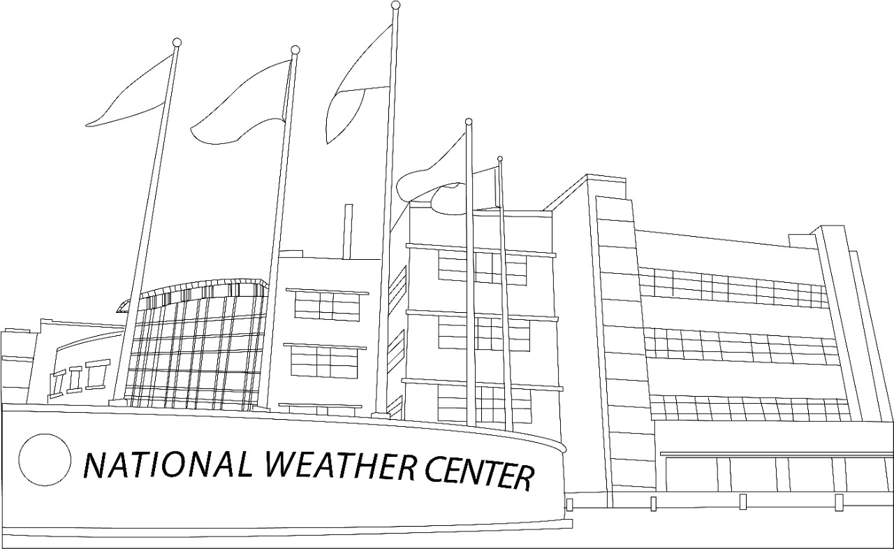 National Weather Festival Coloring Book - Page 1. National Weather Center.