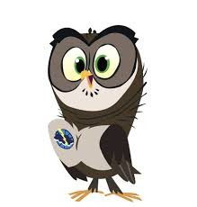 Owlie mascot from the National Weather Service Skywarn program for children.