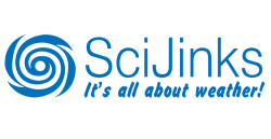 SciJinks logo, It's all about weather!