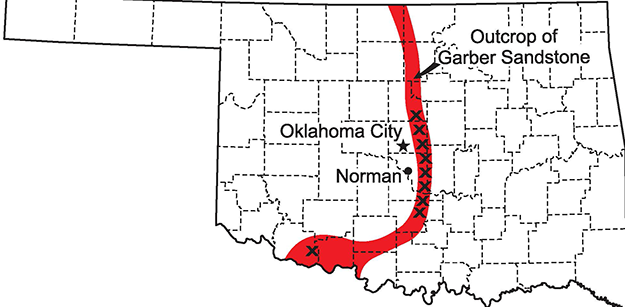 Distribution of Rose Rocks in Oklahoma