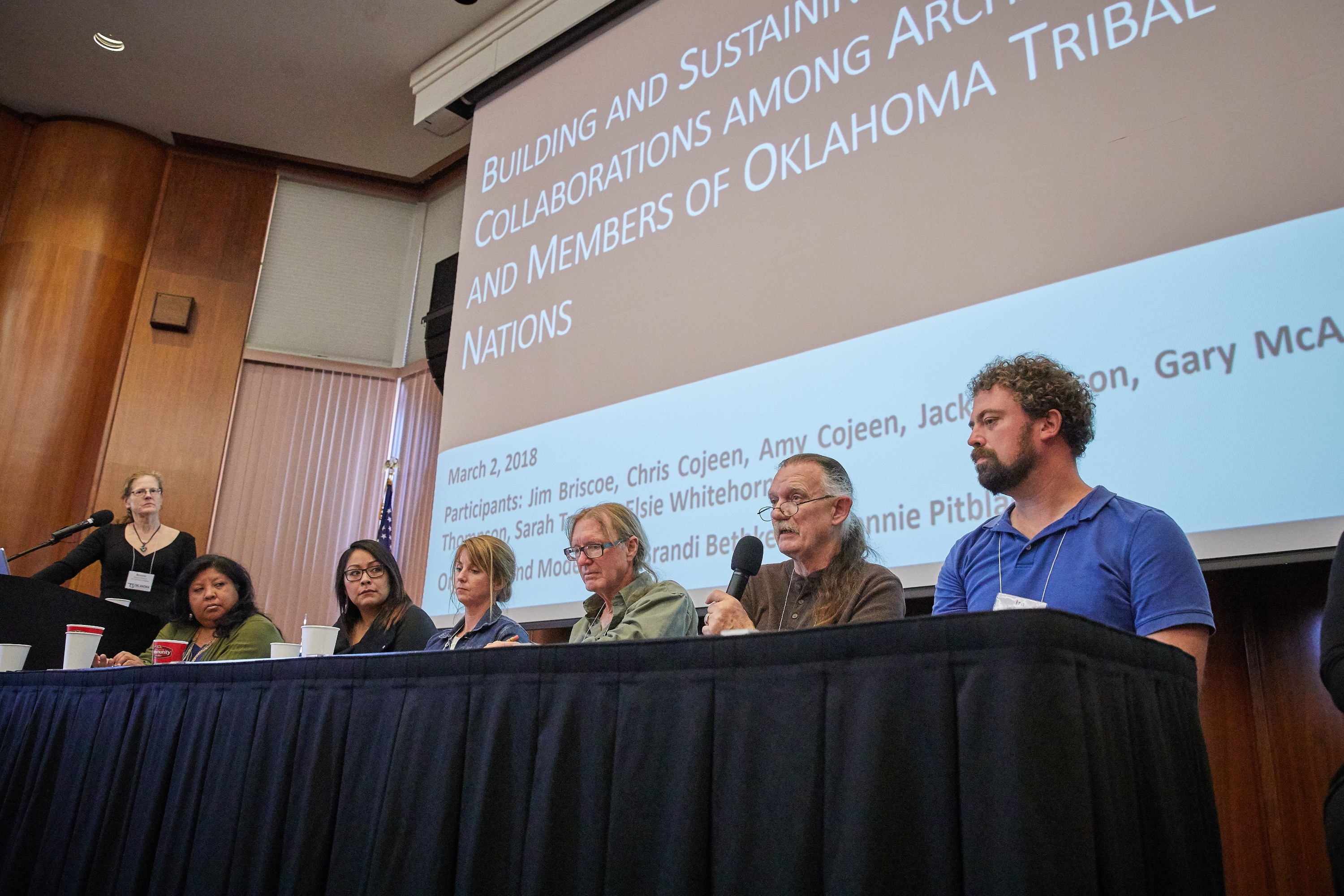 Representatives of Oklahoma's archaeological community participate in the first collaboration forum in 2018.