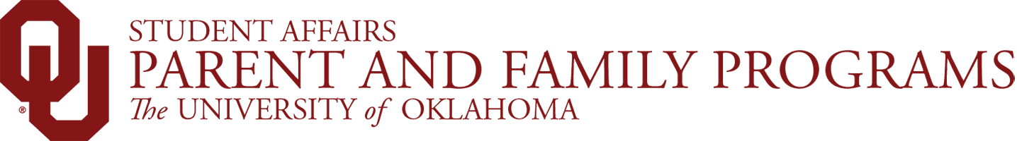 Student Affairs, Parent and Family Programs, The University of Oklahoma website wordmark