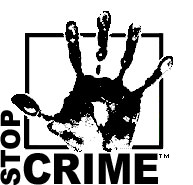 OUPD's Stop Crime palm-print trademarked logo/graphic