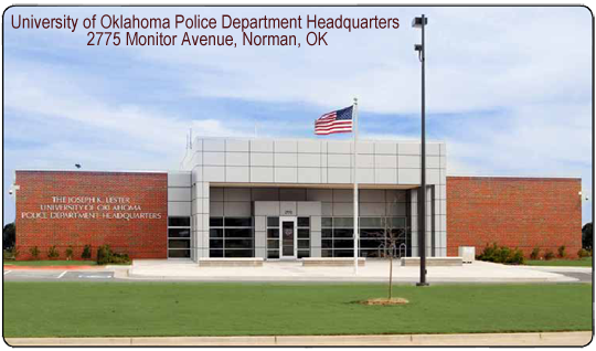 University of Oklahoma Police Department Headquarters  2775 Monitor Avenue, Norman, OK