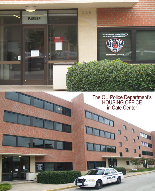 Photo: The OU Police Department's HOUSING OFFICE in Cate Center