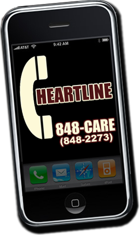 HeartLine Crisis Connection 848-CARE (848-2273)