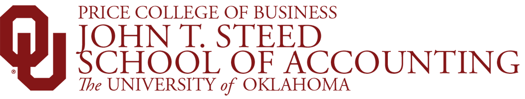 Price College of Business, John T. Sneed School of Accounting, The University of Oklahoma website wordmark