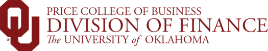Price College of Business, Division of Finance, The University of Oklahoma website wordmark