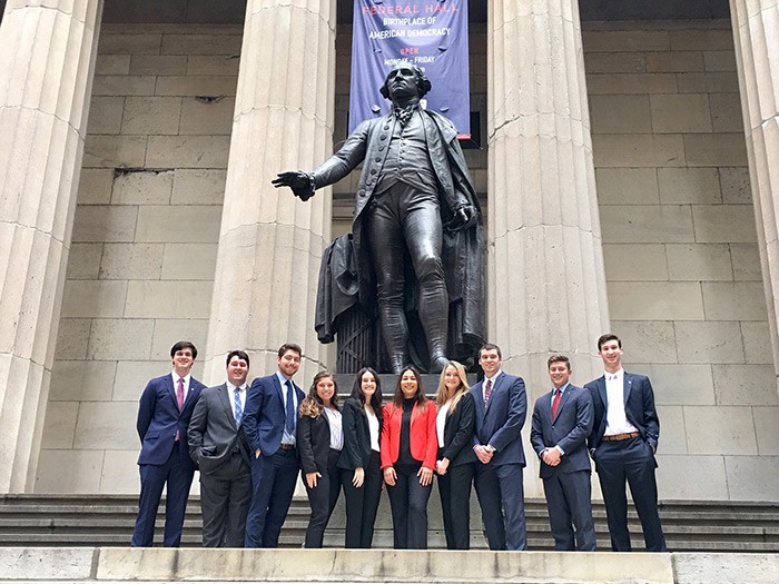 Energy Management students visit Federal Hall