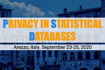 Privacy in statistical databases. Arezzo Italy, September 23-25 2020