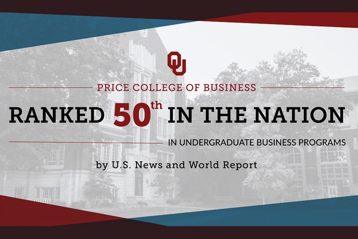 Price College of Business Fall 2019 Faculty Announcement | Ranked 50th in the nation in undergraduate programs by US News & World Report