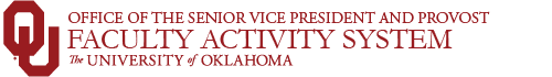 Faculty Activity System website wordmark