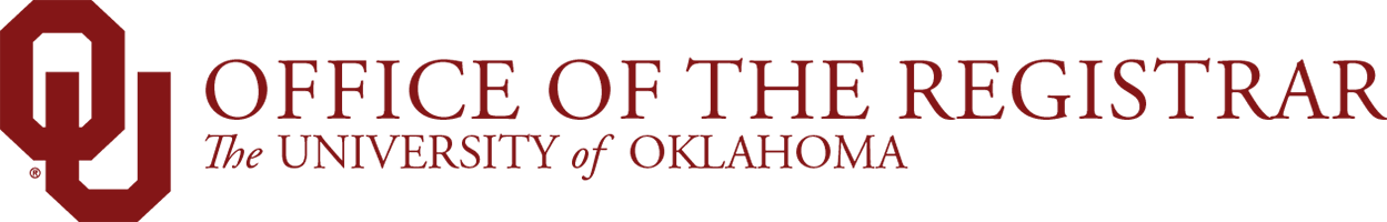 Office of the Registrar, The University of Oklahoma website wordmark