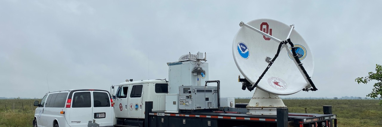 OU SMART radar, managed through CIMMS, with the NOAA P3 hurricane hunter