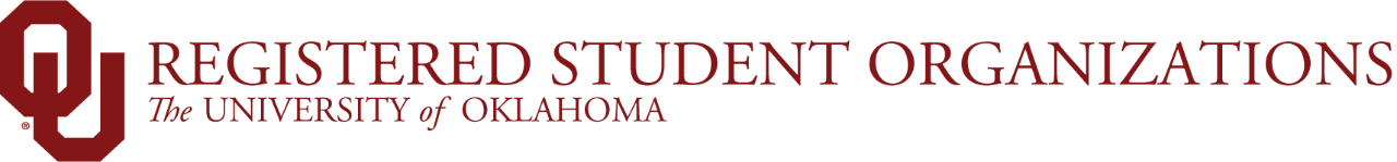 OU Registered Student Organizations, The University of Oklahoma website wordmark