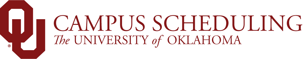 Campus Scheduling, The University of Oklahoma website wordmark