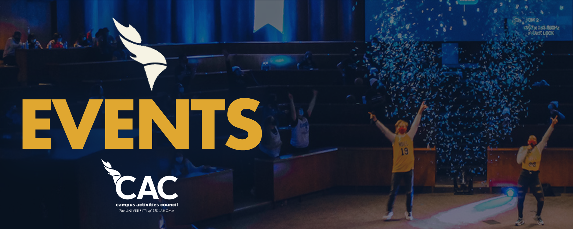 "Banner reading ""CAC Events"""