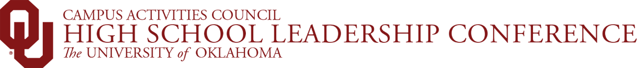 Campus Activities Council, High School Leadership Conference, The University of Oklahoma website wordmark