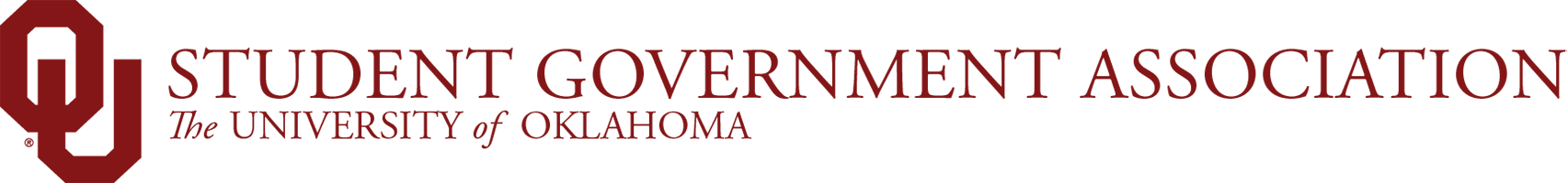 Student Government Association, The University of Oklahoma website wordmark