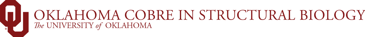 Oklahoma COBRE in Structural Biology, The University of Oklahoma website wordmark