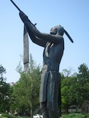 """May We Have Peace"" bronze statue by Allan Houser"