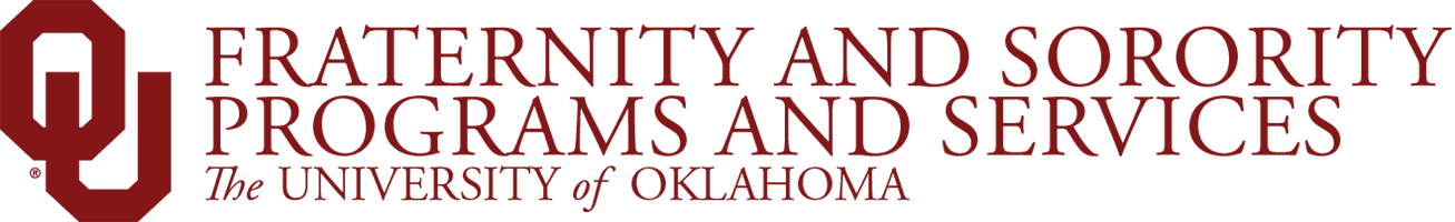 OU Fraternity and Sorority Programs and Services, The University of Oklahoma website wordmark