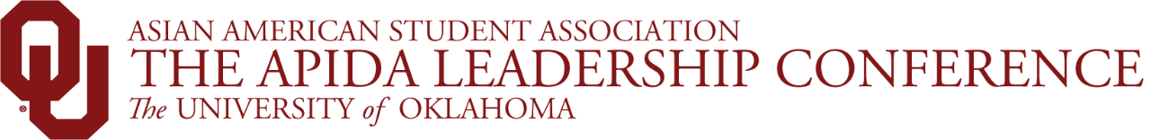 Asian American Student Association, The APIDA Leadership Conference, The University of Oklahoma website wordmark