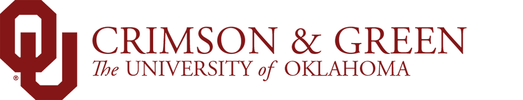 crimson and green website wordmark
