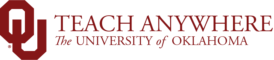 Teach Anywhere, The University of Oklahoma website wordmark