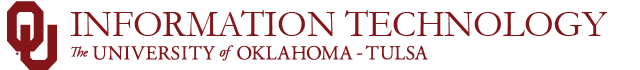 OU Information Technology, The University of Oklahoma - Tulsa Campus website wordmark