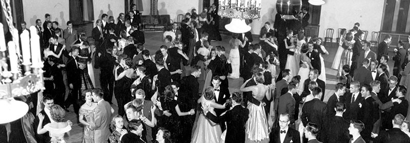 photo of a dance in the union ballroom from 1949