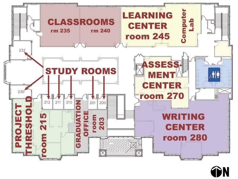 Lissa and Cy Wagner Hall, second (2nd) floor floorplan