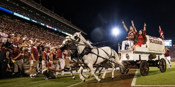 Sooner Schooner on football field