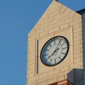 The Joe C. and Carole Kerr McClendon Honors College clocktower