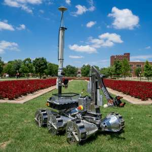 Rover on the South Oval at the University of Oklahoma