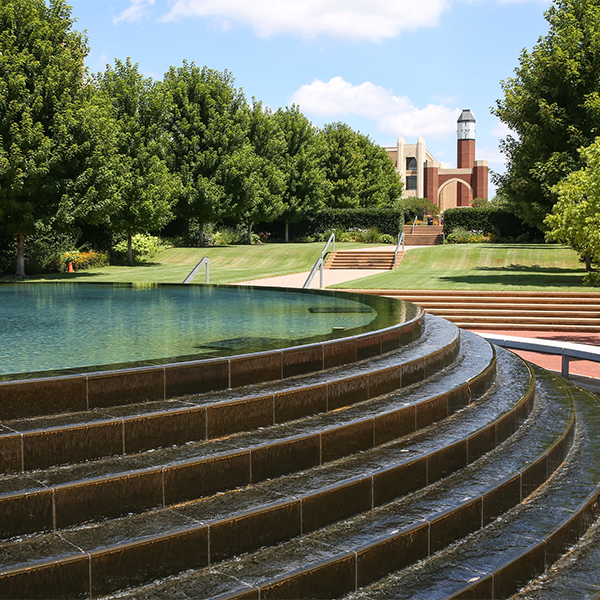 Fountain on the OU HSC campus (decorative)