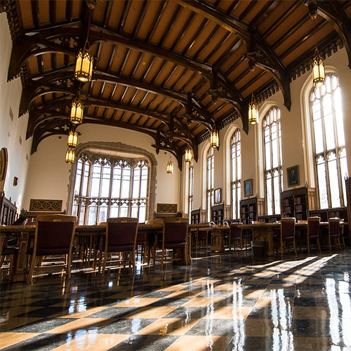 Decorative, OU's Bizzell Library Great Reading Room