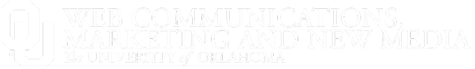 Web Communications, Marketing and New Media, The University of Oklahoma website wordmark